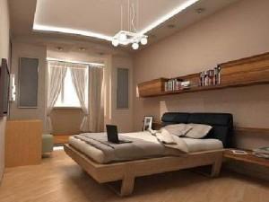 Выполненный ремонт в спальне