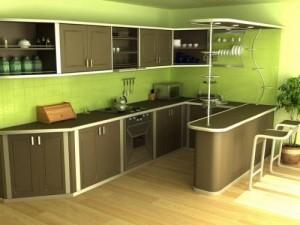 Кухня после выполненного ремонта