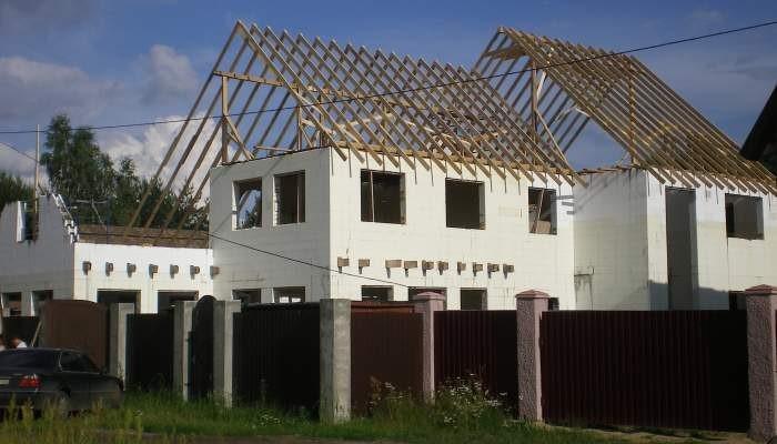 Пример дома из несъёмной опалубки
