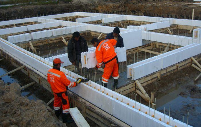 Пример строительства фундамента