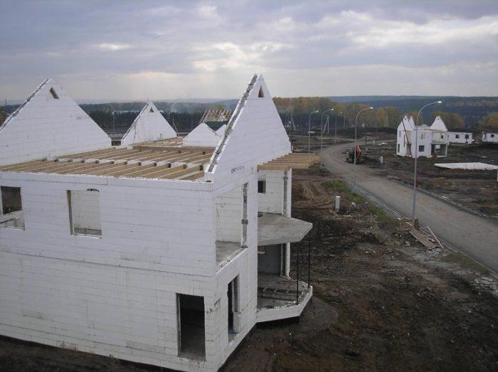 Готовый дом из несъёмной опалубки