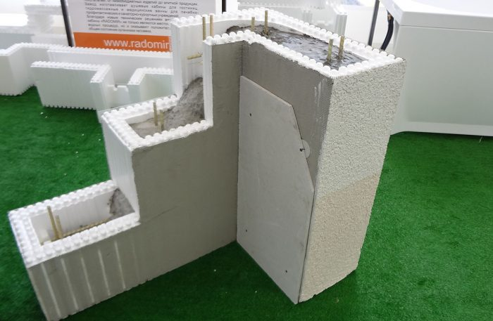 Блоки для монтажа стен