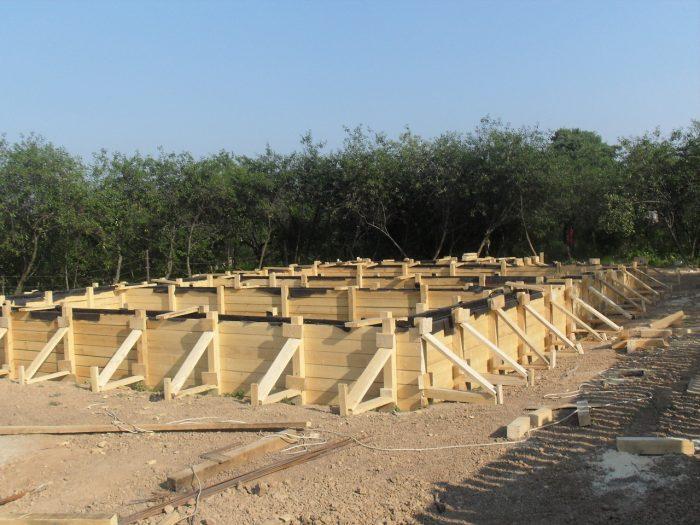 Деревянная опалубка ленточного фундамента