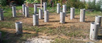 Пример опалубки для свайного фундамента