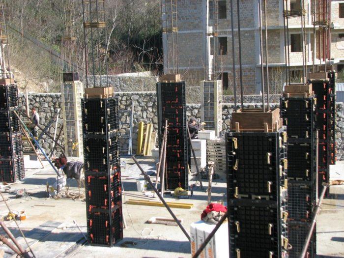 Опалубка квадратных колонн