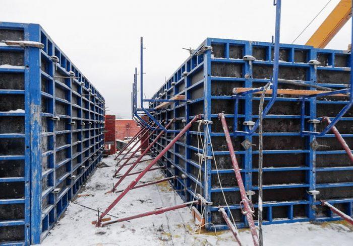 Процесс монтажа систем опалубки