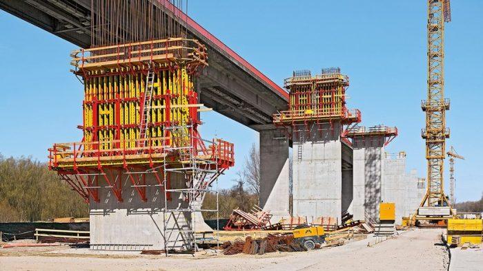 Использование скользящей опалубки при строительстве мостов