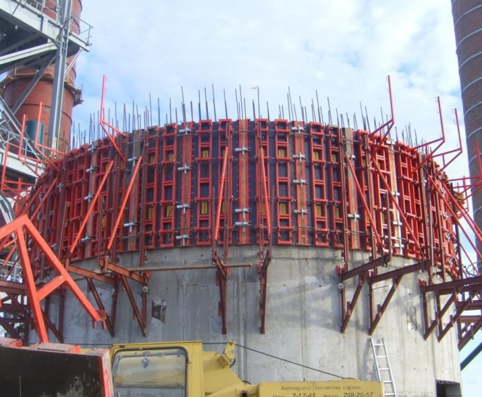 Использование скользящей опалубки при строительстве