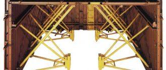 Пример туннельной опалубки