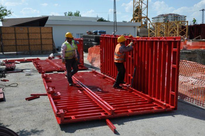 Монтаж туннельной системы опалубки