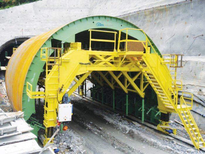 Полукруглая туннельная опалубка